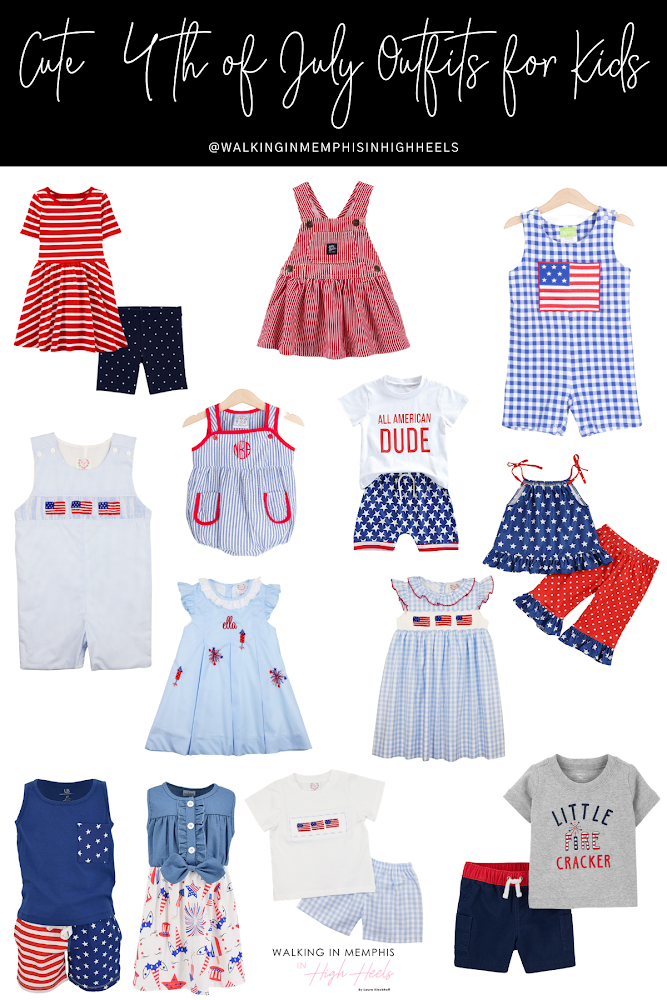 Cute 4th of July Outfits for Kids featured by top Memphis mommy blogger, Walking in Memphis in High Heels.