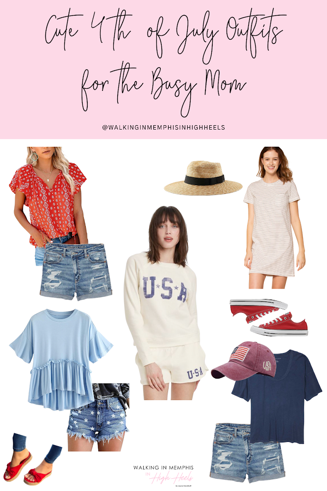 Cute 4th of July outfits featured by top Memphis fashion blogger, Walking in Memphis in High Heels.
