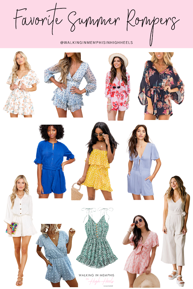 12 Favorite Summer Rompers for Women featured by top Memphis fashion blogger, Walking in Memphis in High Heels.