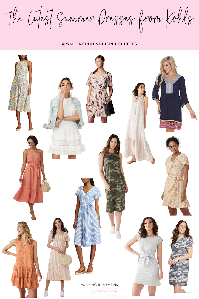 13 Cute Summer Dresses from Kohl's featured by top Memphis fashion blogger, Walking in Memphis in High Heels.