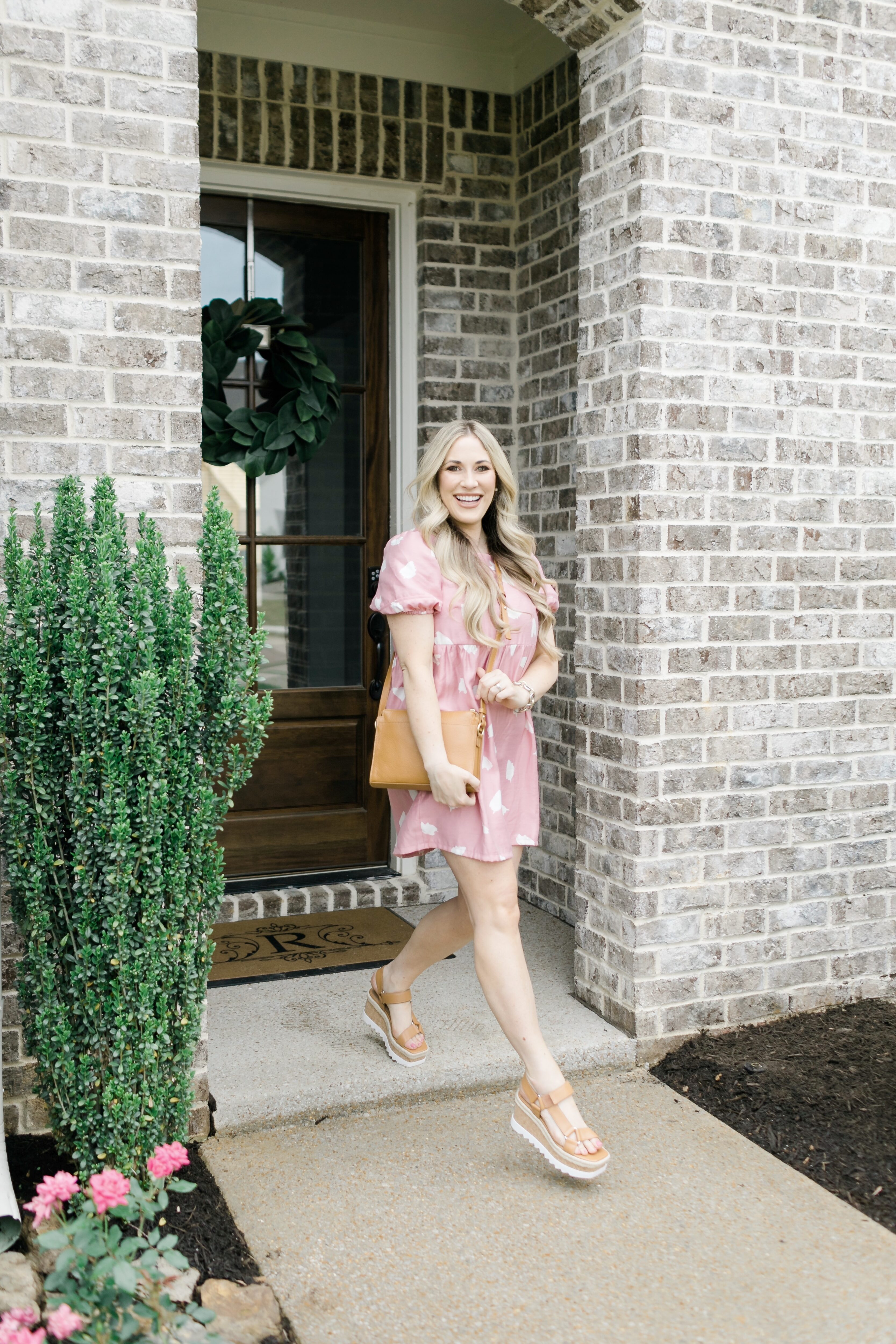 Pink summer essentials featured by top Memphis fashion blogger, Walking in Memphis in High Heels: image of a woman wearing a Pink LOFT swing dress.