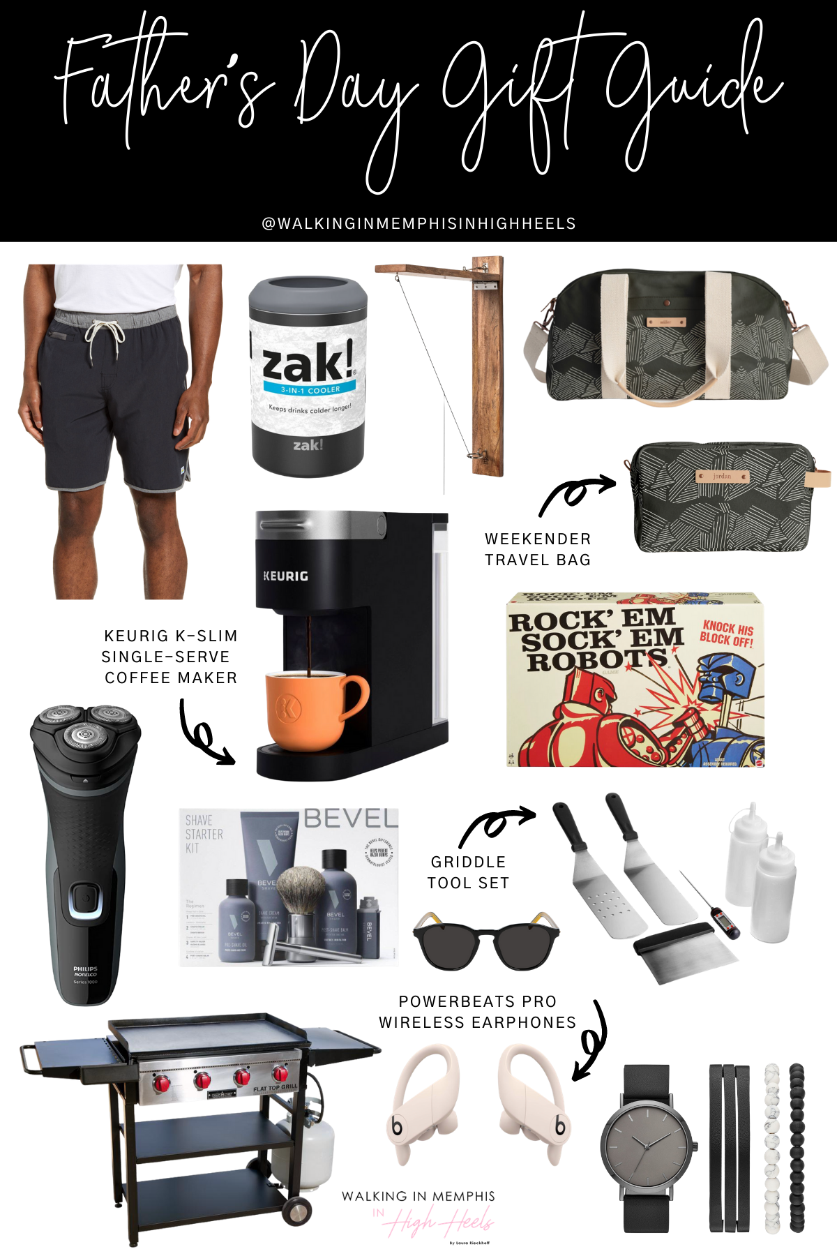 Father's Day Gift Guide: Top 15 Gift Ideas He'll Love featured by top Memphis lifestyle blogger, Walking in Memphis in High Heels.