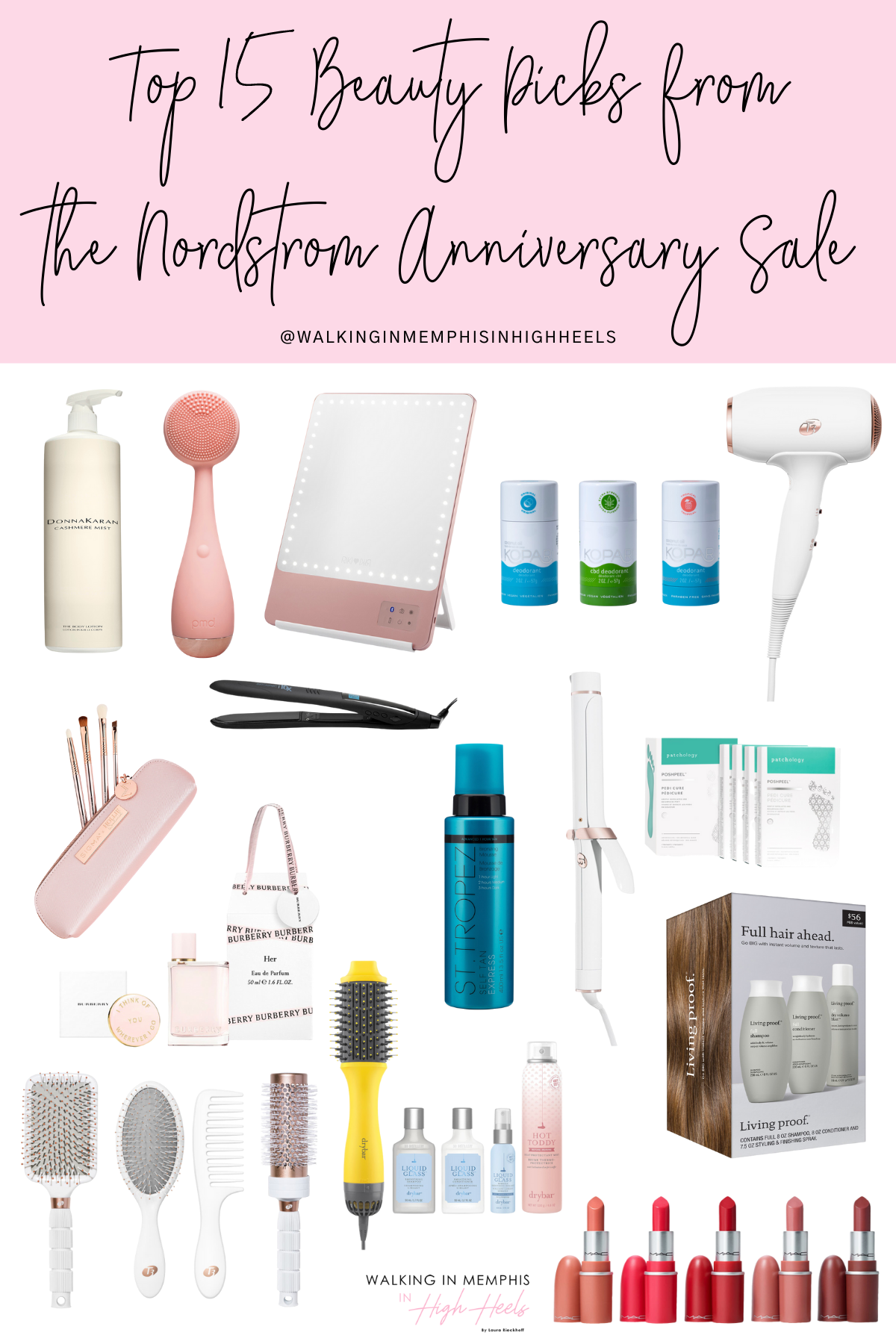 Top 15 Beauty Picks from the Nordstrom Anniversary Sale 2021 featured by top Memphis beauty blogger, Walking in Memphis in High Heels.