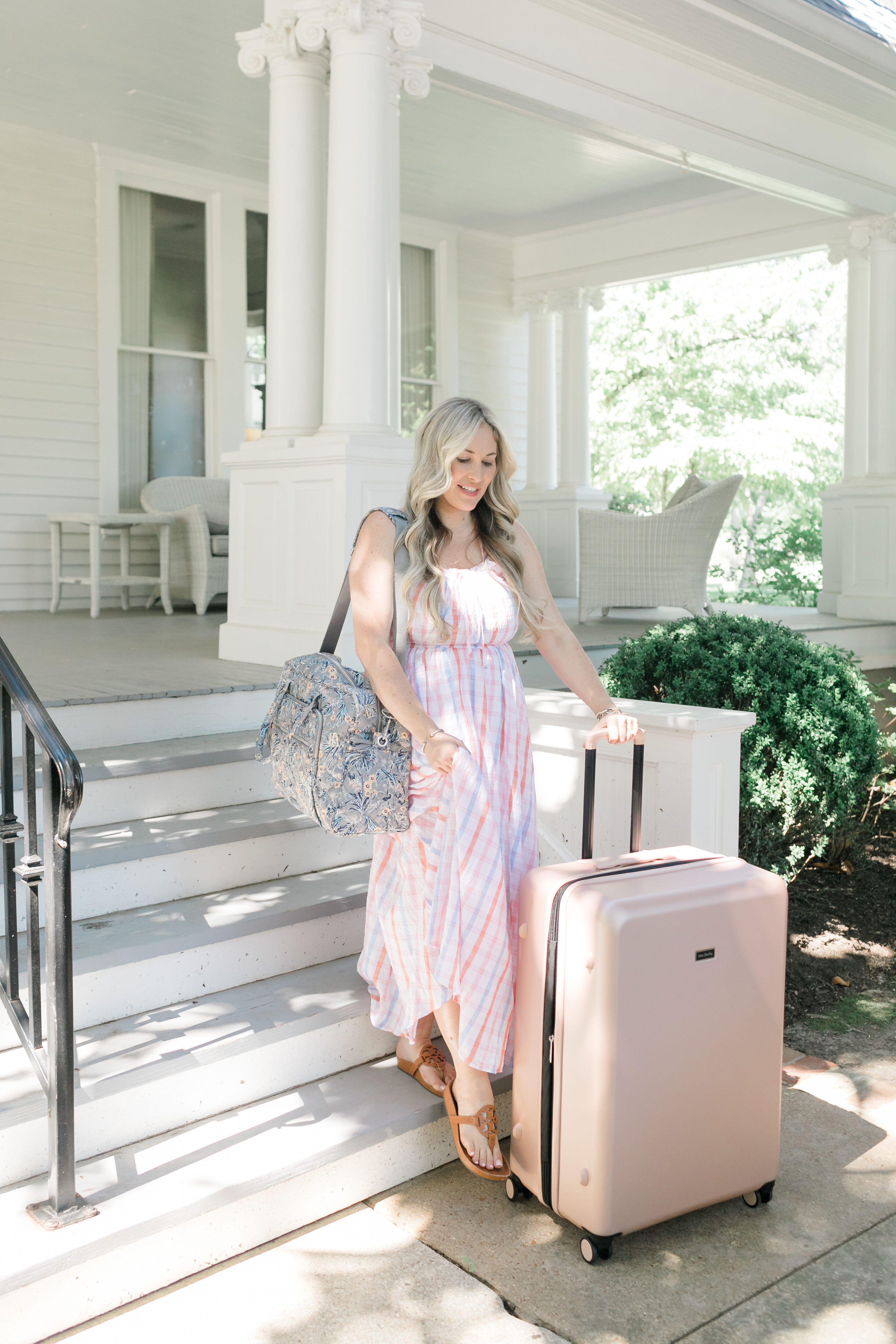 Vera Bradley Travel Collection reviewed by top US travel and fashion blogger, Walking in Memphis in High Heels.