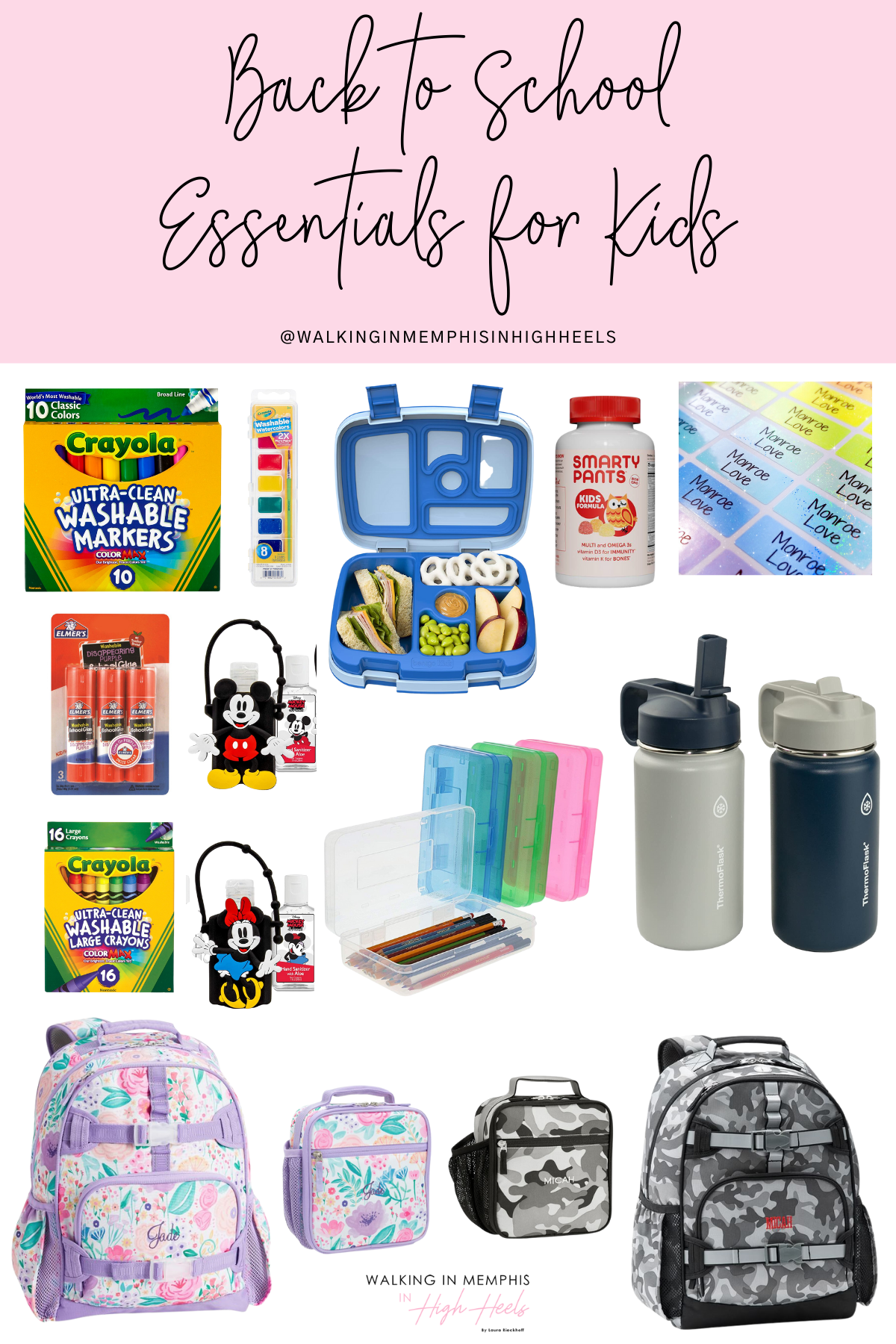 Back to School Essentials 2021 for Kids featured by top US mommy blogger, Walking in Memphis in High Heels.
