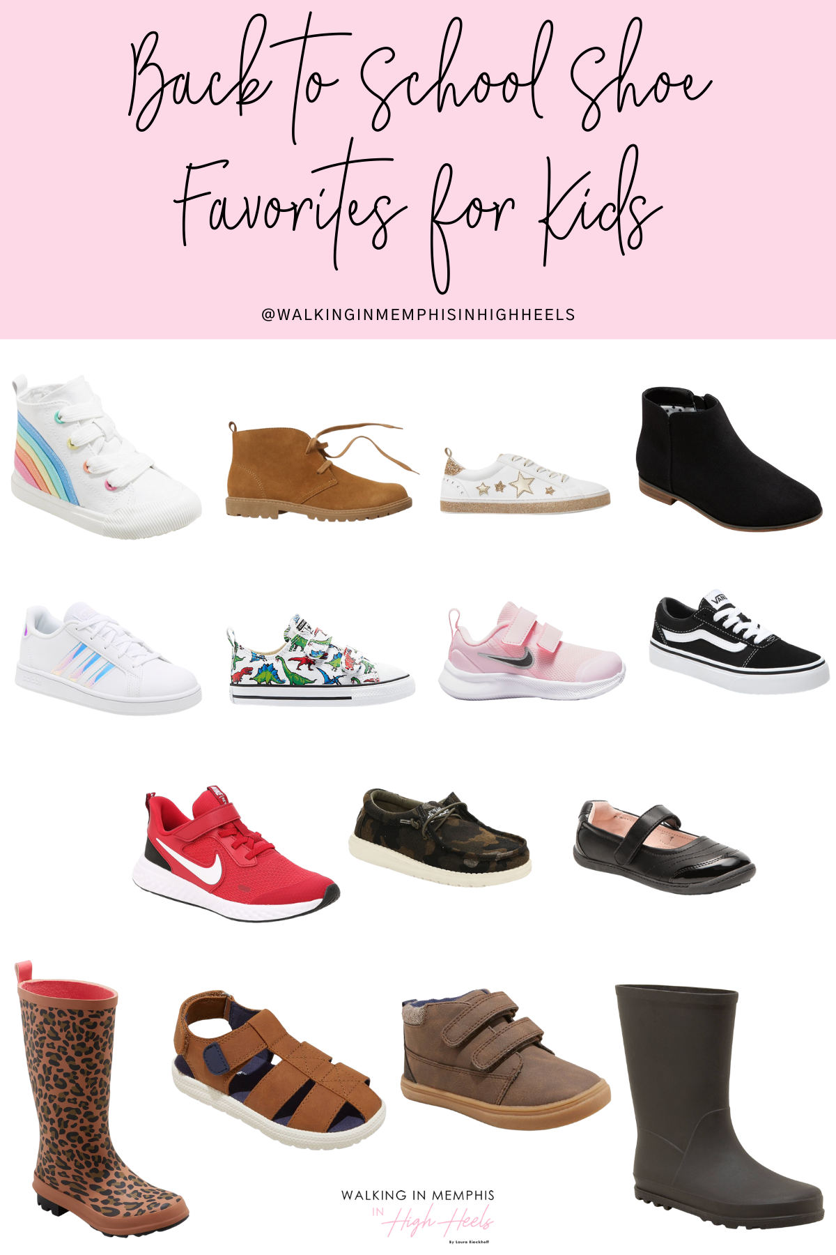 Best Back to School Shoes for Kids featured by top US mommy blogger, Walking in Memphis in High Heels.