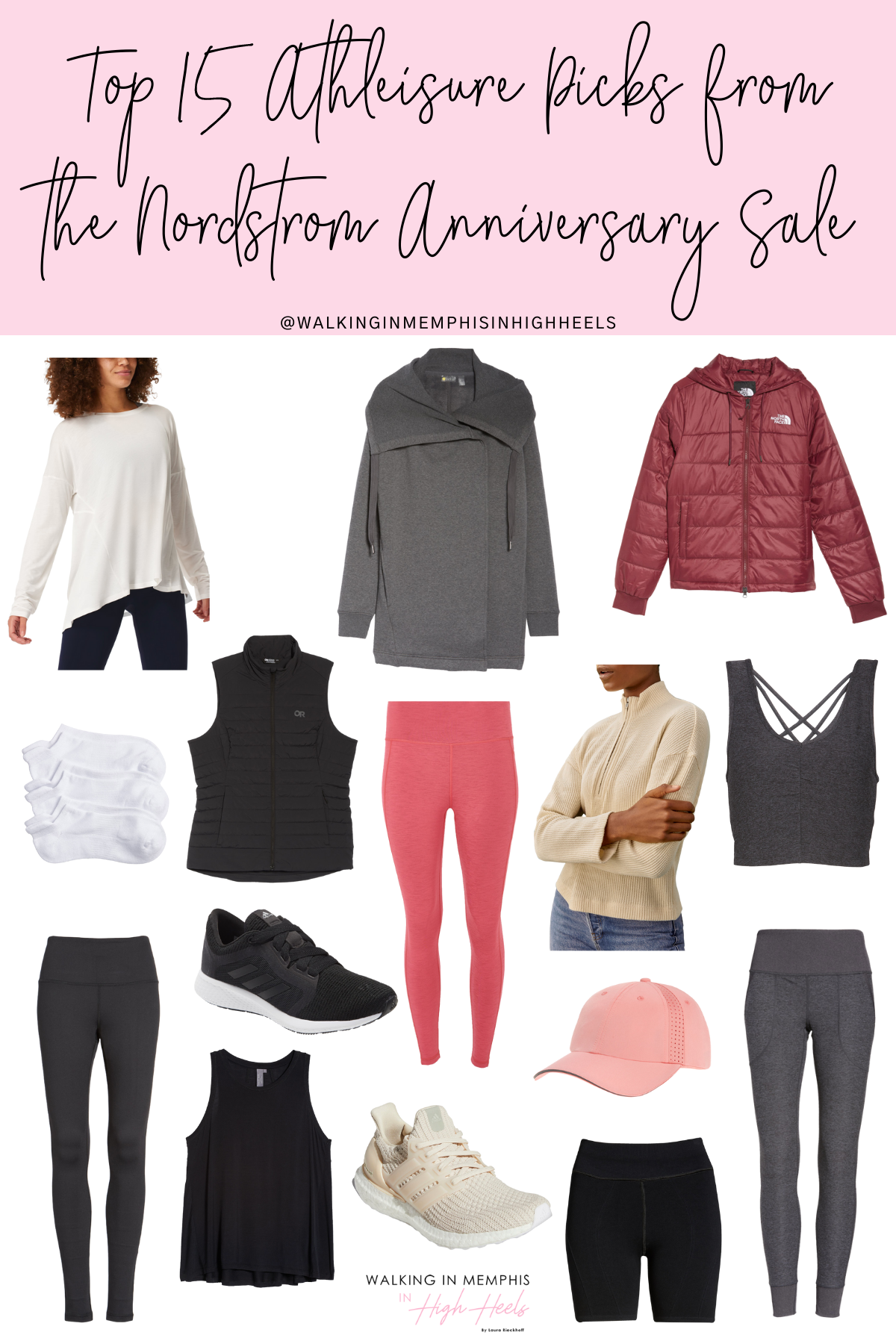 Nordstrom Anniversary Sale 2021: Top 15 Athleisure Picks for Women featured by top Memphis fashion blogger, Walking in Memphis in High Heels.