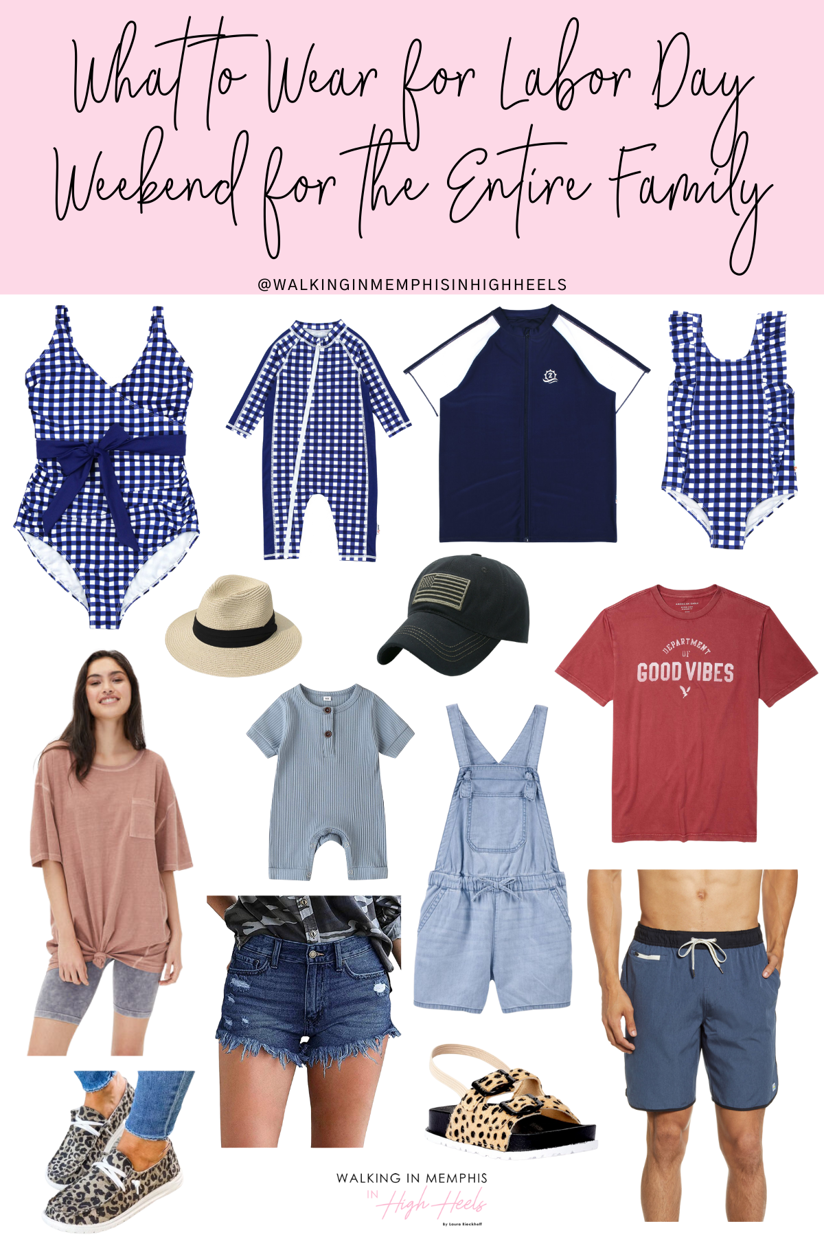 What to Wear for Labor Day Weekend , ideas for the entire family featured by top US fashion blogger, Walking in Memphis in High Heels.