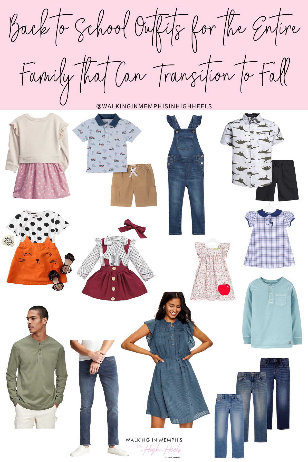 Back to School Outfits for the Entire Family featured by top US fashion blogger, Walking in Memphis in High Heels.
