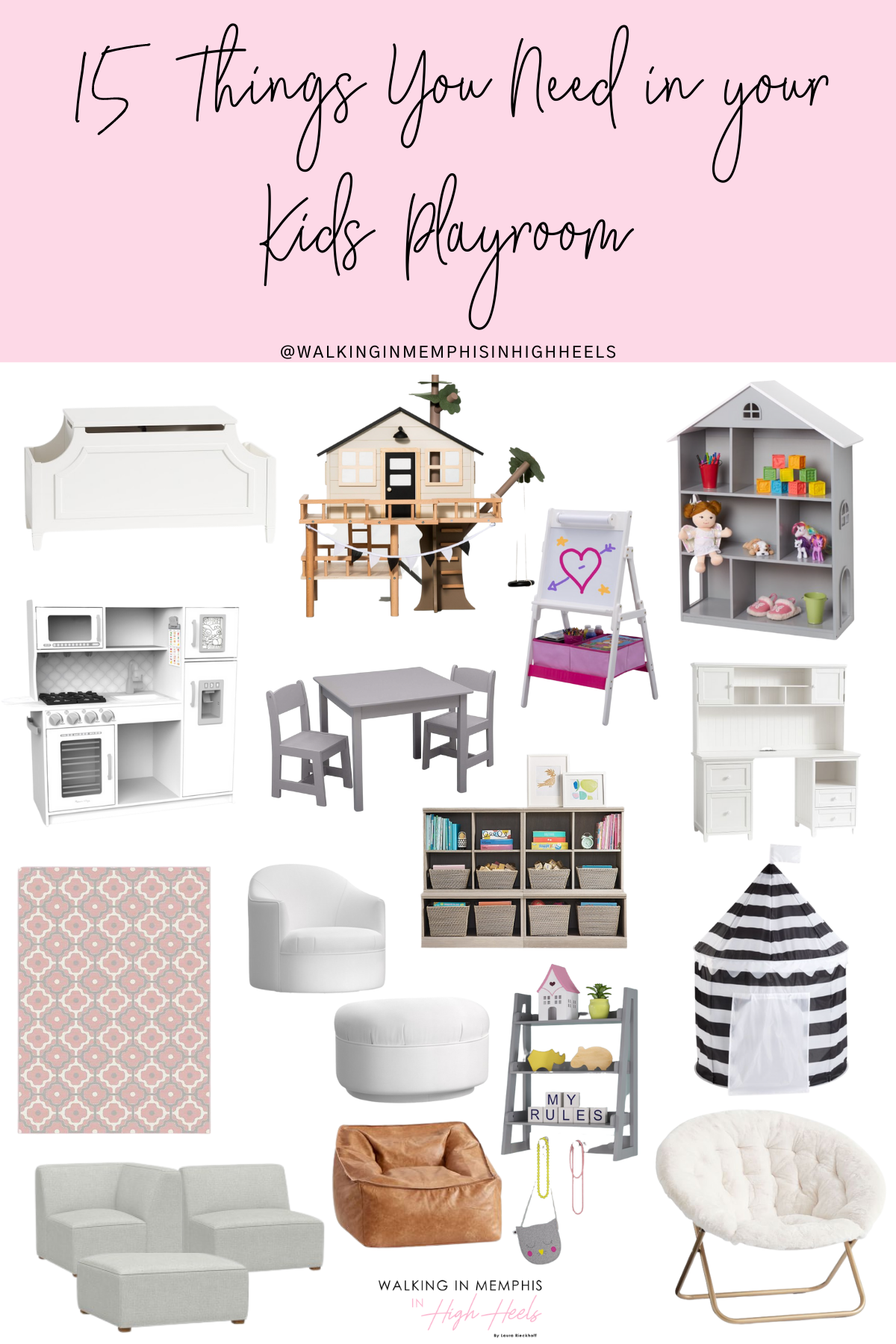 15 Kids Playroom Must Haves featured by top US mommy blogger, Walking in Memphis in High Heels.