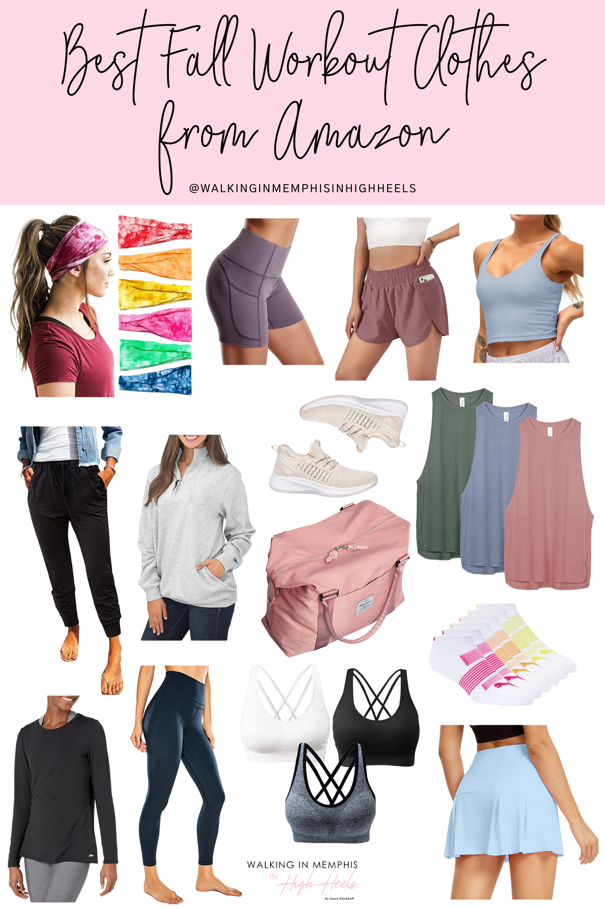 Amazon Favorites: Best Fall Workout Clothes for Women featured by top US fitness blogger, Walking in Memphis in High Heels.