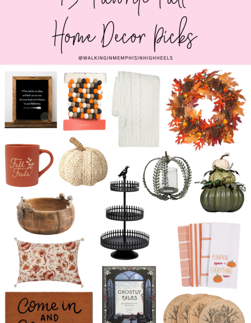 15 Favorite Fall Home Decor Picks featured by top Memphis lifestyle blogger, Walking in Memphis in High Heels.