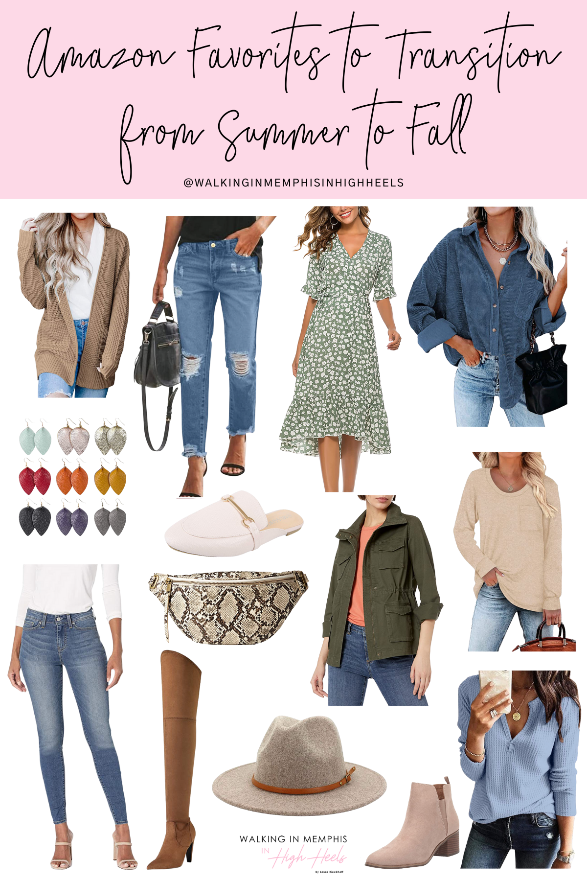 Amazon Favorites for Women to Transition from Summer to Fall featured by top US mom fashion blogger, Walking in Memphis in High Heels.