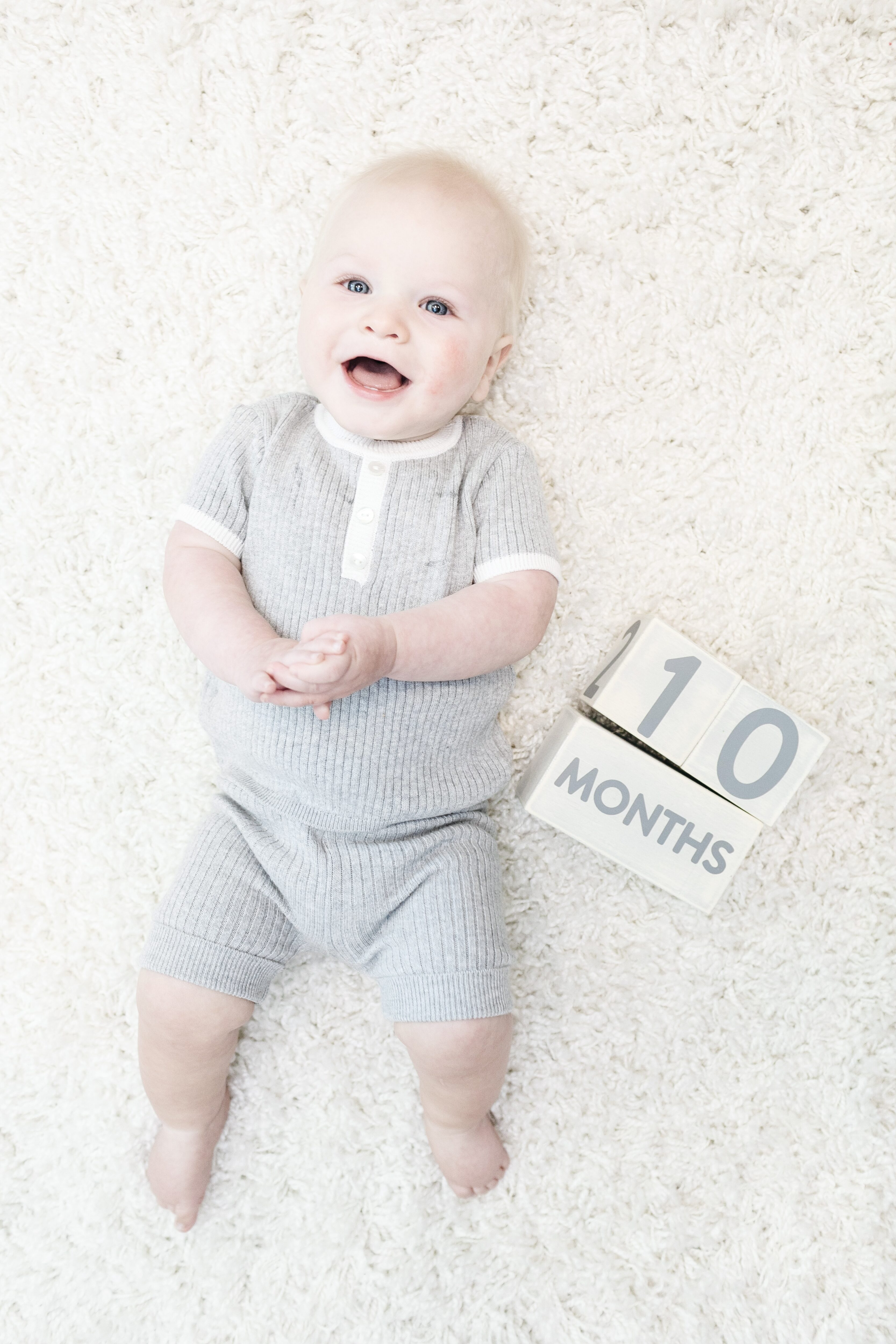 Grayson's 10 Month Baby Update featured by top US mommy blogger, Walking in Memphis in High Heels.